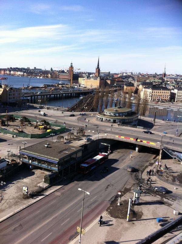 Bird's eye view of Stockholm