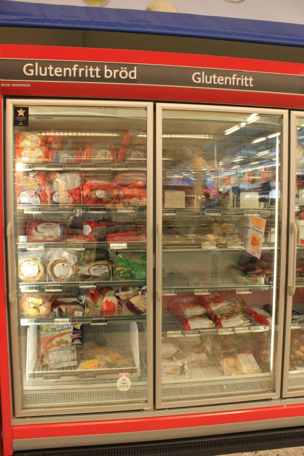 Be sure to check the frozen section for gluten free too!