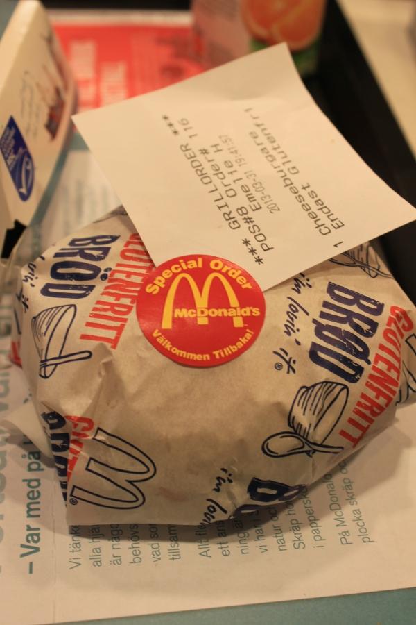 Glutenfree Mc Donald's